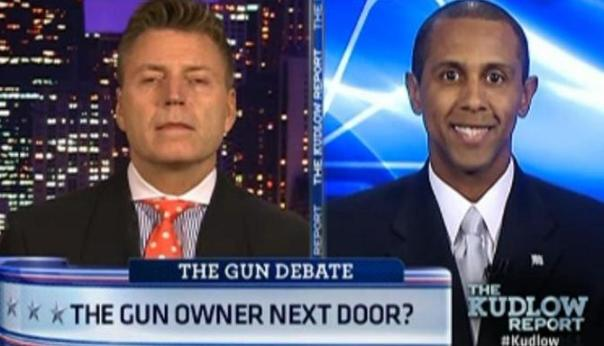 David Ormsby (Chicago blogger at The Huffington Post) and Lenny McAllister (Republican, Illinois' 2nd Congressional District) debate legality vs. ethics of The Journal News' decision to publish the names and addresses of all the known gun permit-holders in its readership area.