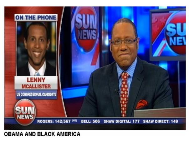 Lenny McAllister talks to Sun News Network anchor Brian Dunston about President Obama's visit to Chicago in February 2013 to discuss urban violence.