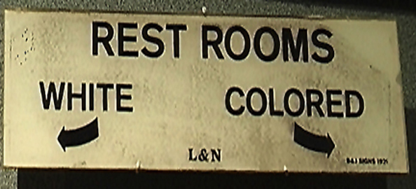 jim crow rest rooms