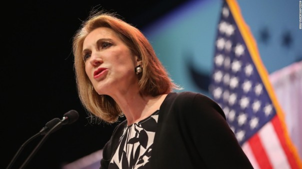 Former HP executive and US Senate candidate Carly Fiorina rises in the polls in time for the 2nd GOP Presidential Debate in California on September 16.